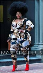 Chains & Thangs Animal Print Wrap Catsuit