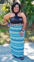 Choker Panel Halter Maxi Dress