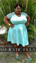 Lace Sleeve Mint Skater Dress