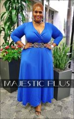 Wrap Bust Maxi Dress- Royal Blue