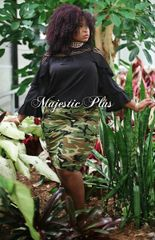 Camouflage Mini Pencil Skirt