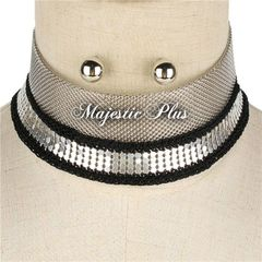 Multi Chain Layered Choker Necklace Set