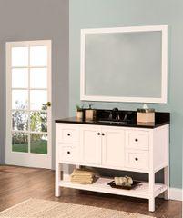 "Hampton Bay Collection Bathroom Vanity Set, 48"", Silky White"