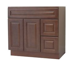 Chestnut Chocolate Vanity Cabinet CC-4221DR