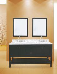 """Hampton Bay Collection Bathroom Vanity Set, 60"""", Silky Black"""