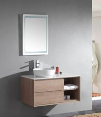 "Woodbridge Collection 39"" Wall-Mounted Bathroom Vanity Set"