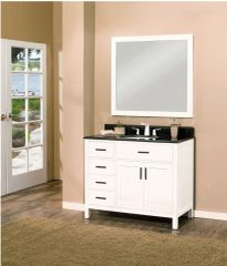 "Arezzo Collection Bathroom Vanity Set, 36"" DL, Silky White"