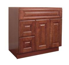 Maple Mocha Vanity Cabinet MM-3621DL