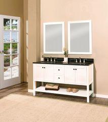 "Hampton Bay Collection Bathroom Vanity Set, 60"", Silky White"