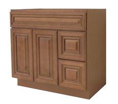 Coffee Glaze Vanity Cabinet COG-4221DL