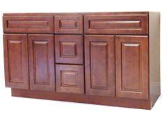 Chestnut Chocolate Vanity Cabinet CC-6021DD