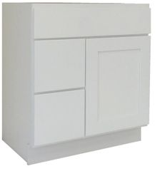 White Shaker Vanity Cabinet WS-3021DL
