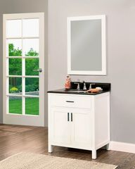 "Arezzo Collection Bathroom Vanity Set, 30"" Silky White"