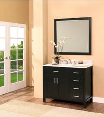 "Arezzo Collection Bathroom Vanity Set, 42"" DR, Silky Back"