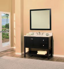 "Hampton Bay Collection Bathroom Vanity Set , 42"" DR Silky Black"