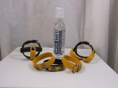 Yellow Garment Leather 'BATOR' Cockring Package