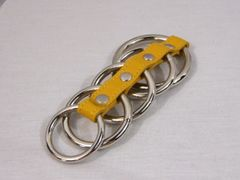 Gates of Hell 5 Metal Rings-Yellow Leather
