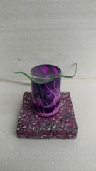 One of a Kind Purple Lava Cylinder Adjustable Electric Burner