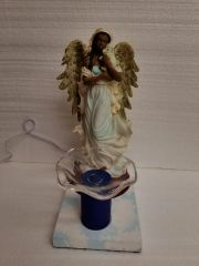 One of a Kind African American Angel Adjustable Electric Burner/Warmer