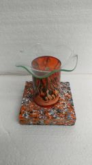 One of a Kind Orange Lava Cylinder Adjustable Electric Burner