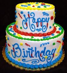 93 Birthday Cake Small Gel