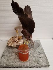 One of a Kind Eagle and Baby in the nest Electric Adjustable Burner/Warmer
