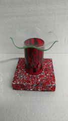 One of a Kind Red Lava Cylinder Adjustable Electric Burner
