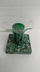 One of a Kind Green Lava Cylinder Adjustable Electric Burner
