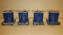 One of a Kind Small Metal Blue Adjustable Electric Burners