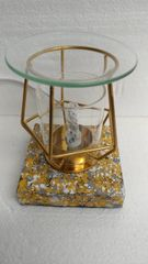 One of a Kind Gold with Clear Cylinder Adjustable Electric Burner