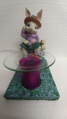 One of a Kind Easter Bunny Adjustable Electric Burner