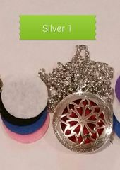 Silver 1 Aroma Therapy Diffuser Locket Necklace