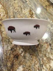 Limited Edition Roaming Buffalo Serving Bowl