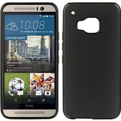 HTC M9 Plus Back Cover Soft Mobile Back Cover - Black