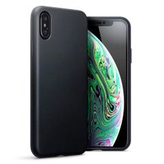 Apple Iphone XS Max Back Cover Soft - Black