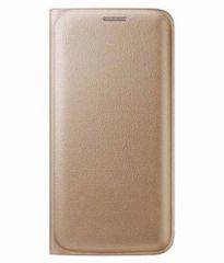 Lenovo A7000 Flip Cover Gold