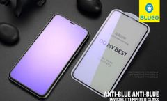 Blueo Iphone Xs Max Tempered With Anti-Blue Ray Protective Glass Black