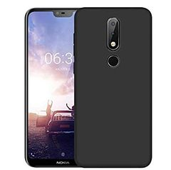 Nokia 6.1 Plus Back Cover Soft - Black