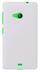 Microsoft Lumia 535 Mobile Back Cover Soft - White