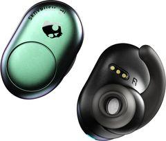Skullcandy Push True Wireless Bluetooth Headset with Mic (Green, In the Ear)