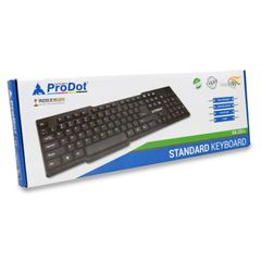ProDot KB-207s Wired PS/2 Standard Keyboard with 1.5 Meter Cable and Foldable Stands