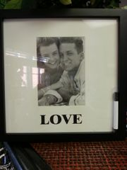 Wedding Frame Love Hanging Picture Frame with Autograph Mat