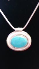 Jewelry Necklace Turquoise Oval Medallion