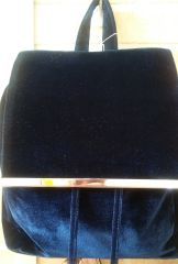 Handbag Velvet Blue Backpack