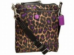 "Coach Crossbody Bag ""Ocelot"" #F50137"
