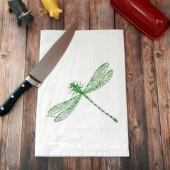 Flour Sack Tea Towel Dragonfly