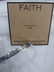 EB Faith over Fear Mantra Cuff Bracelet
