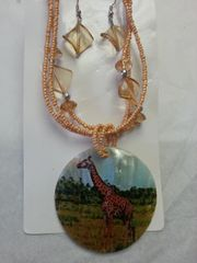 Jewelry Set Caribbean Shell Collection Giraffe