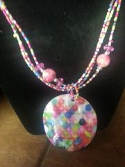 Jewelry Set Caribbean Shell Collection Multi Pink MOD