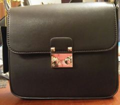 Handbag Black Saddle Crossbody